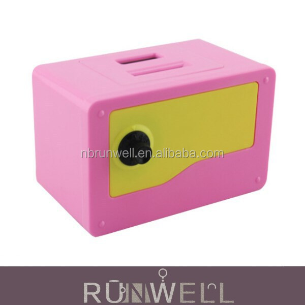 Plastic digital coin value counting piggy bank atm