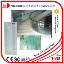 CE,ISO,CCC certificate curve glass roof thick 4mm--19mm