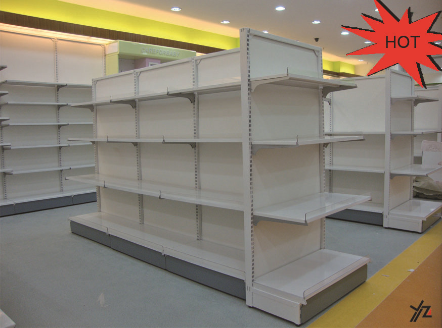 High quality goods metal perforated iron shelf/adjustable steel shelving/Snack retail display wire rack