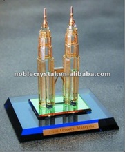 Malaysia Petronas Twin Towers Crystal Building Model Crystal Souvenirs Crystal Gifts With Base