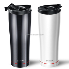 Unique design 500ml Gym Water Bottle thermos travel mug bluetooth smart cup