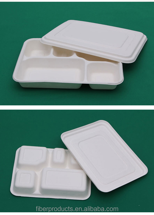 dinnerware disposable sugarcane paper tray