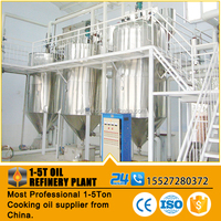 1TPD small oil refinery production line crude palm oil refining and fractionation plant with onsite installation service