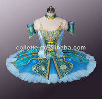MB0898-1 !!!Green China Style Ballerina classical pancake tutu in performance dancewear