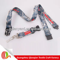 Professional custom lanyard with safety breakaway clip