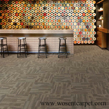 Stripe khaki floor decoration hotel lobby bar nylon carpet