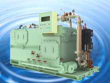 Sewage treatment plant for both land use and marine ship for purifying the waste water sewage