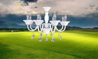 New Factory-outlet modern metal led glass crystal chandelier light E14
