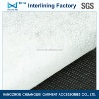 favorable fusing double dot polyester compression garment nonwoven tearable interlining for shirt with SGS