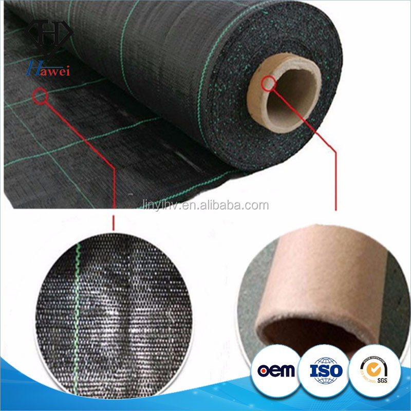 Black pp ground cover weed barrier fabric weed control sheet