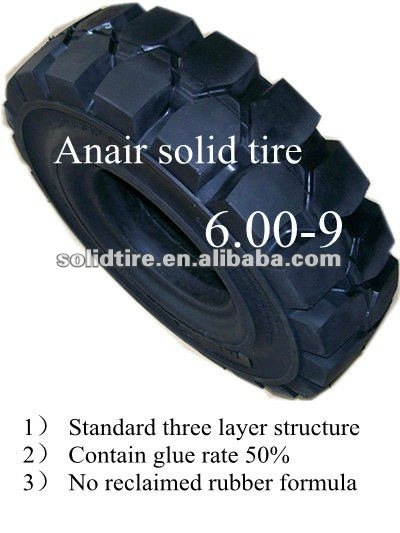 Air free tire for fofklift / solid tires/rubber wheel