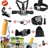 9 in1 hero5 kits Chest Head Strap Floating Bobber Mount for gopros heros 5 black action camera accessories
