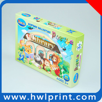 kids toy educational paper custom puzzle jigsaw cartoon shape picture