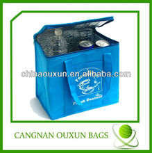 Hottest 6 can insulated sublimation printed cooler lunch bag