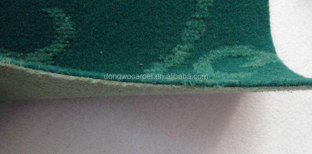 Good quality microfiber Velour Jacquard Carpet, exquisite technique of carpet backing coating