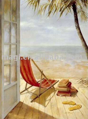 Romantic Seaside Nature Piece Modern Canvas Painting