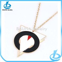 Wholesale fashion gold thin chain flag necklace