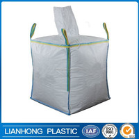 Wholesale high quality big bag PP bulk bag/FIBC bag/ supersack 1 ton bag, top open bottom discharge 100% new virgin resin china