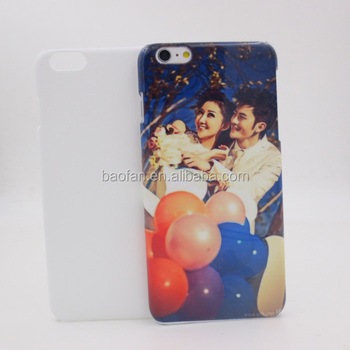 Hot selling 3D blank sublimation cell phone case for i6 plus 5.5inch