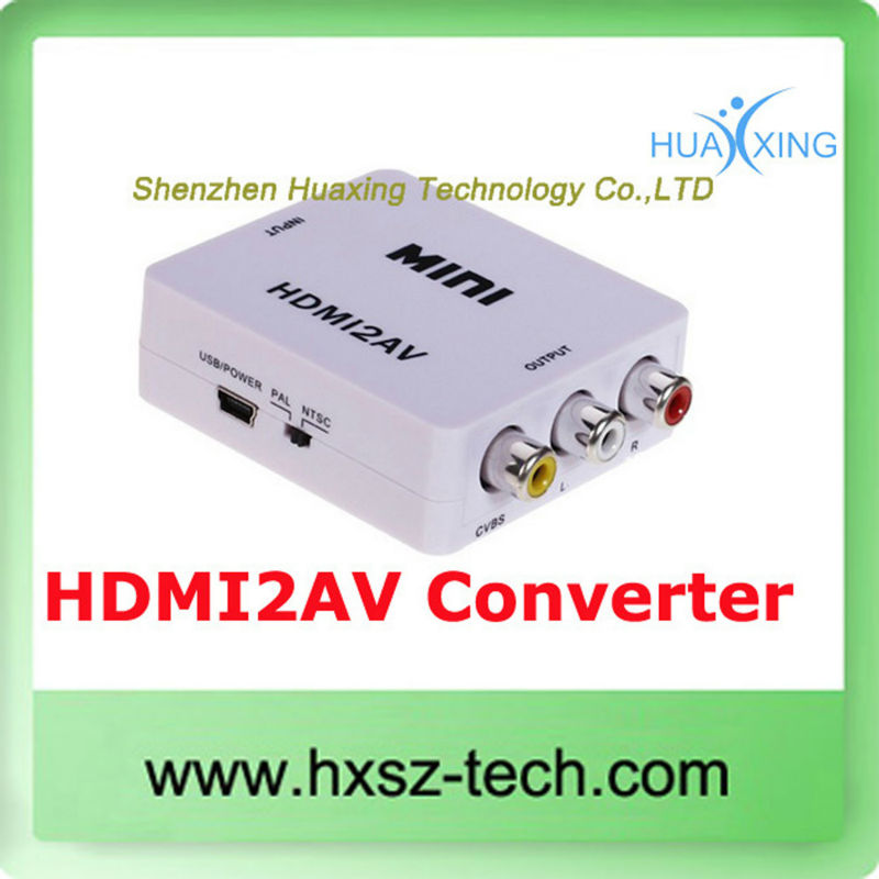 Mini HD Video Converter Box HDMI to AV/CVBS L/R Video Adapter HDMI2AV