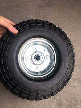 the heavy duty pneumatic rubber wheel for wheelbarrow 3.00-4 with good price in Qingdao