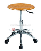 China factory sale lab stools, adjustable student chairs, round wooden seat lab chairs