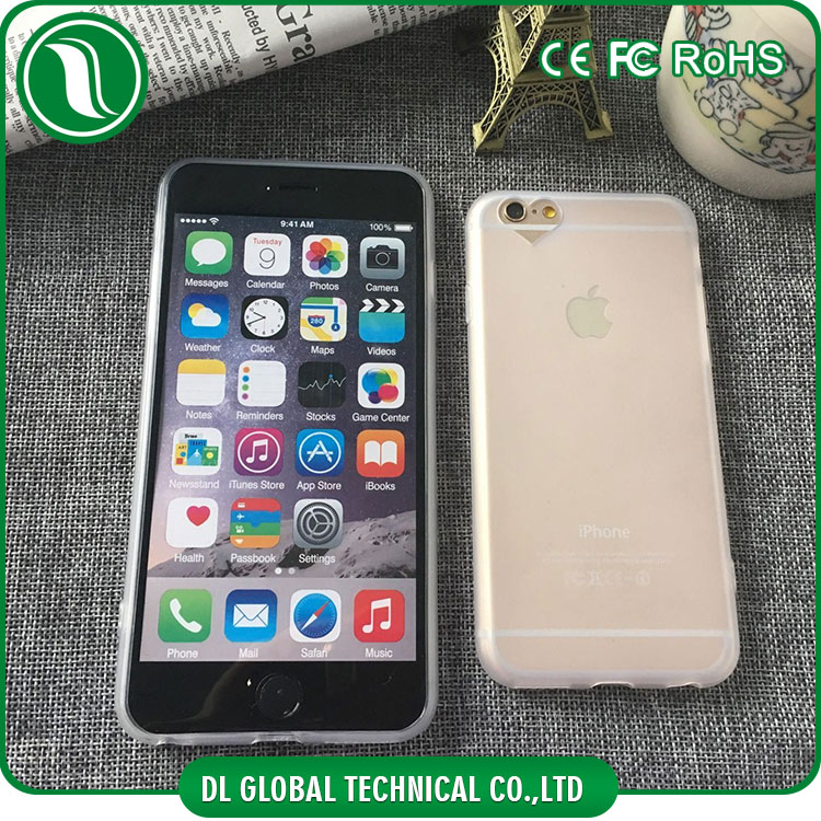 New idea of crystal tpu case for iphone 6 housing custom with loving heart opening round lens matte phone case