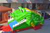 Commercial inflatable bouncer cartoon slide for children