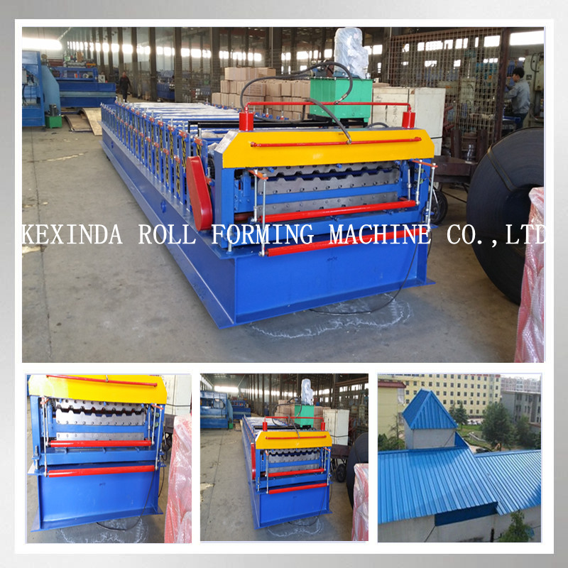 Double Layer Combined Roofing & Wall Profile Trapezoidal Galvalume Metal Steel IBR Tiles Cold Rolling Form Machine
