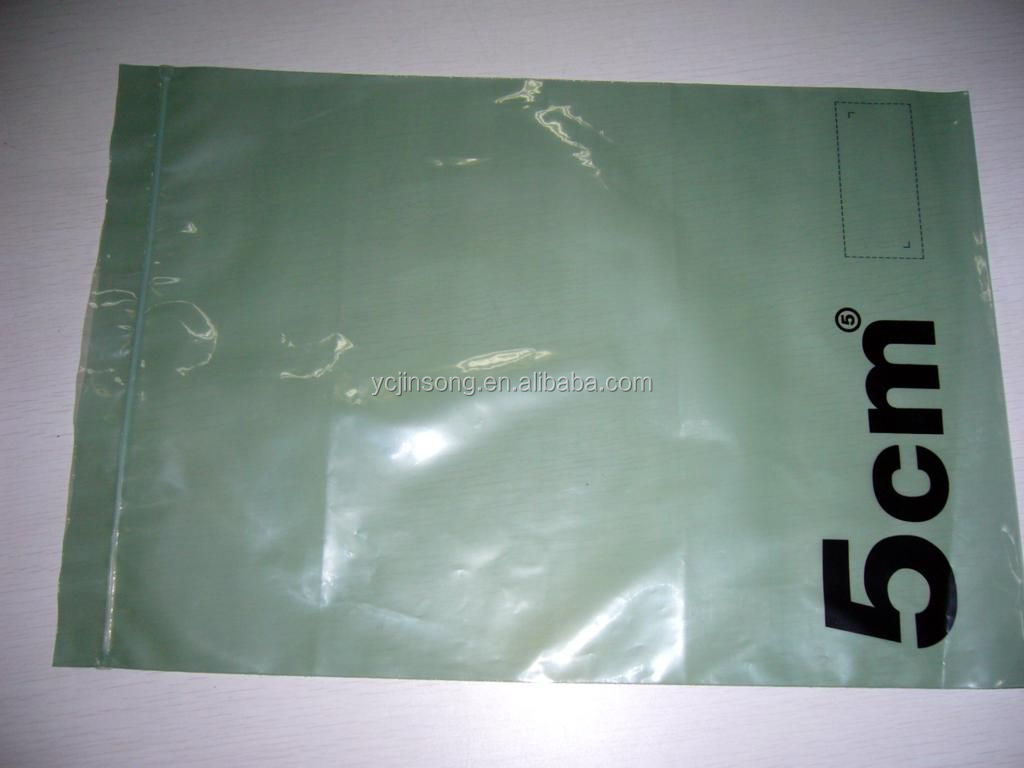 Custom good packaging thin garment plastic bag