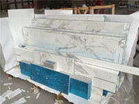 White marble aluminium honeycomb composite panel
