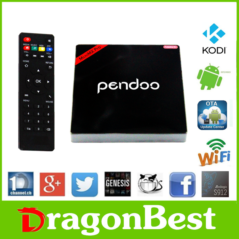 2017 China manufacturer Pendoo Minimx Pro S912 2G 16G 4k smart kodi android tv box With Promotional Price KODI TV Box