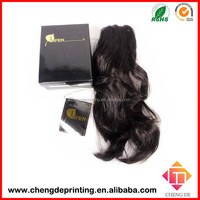 paper cardboard virgin hair extension packaging wig box