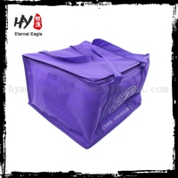 Disposable insulated cooler lunch bag, isothermic bags, custom nonwoven can cooler bag