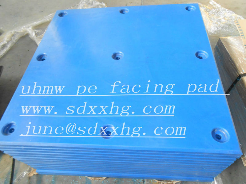 marine fender facing pads (uhmwpe pads )
