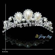 pearl and rhinestone tiara pageant crowns