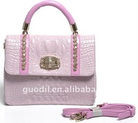 2012 Leather lady crocodile handbags in stylish style and brand name