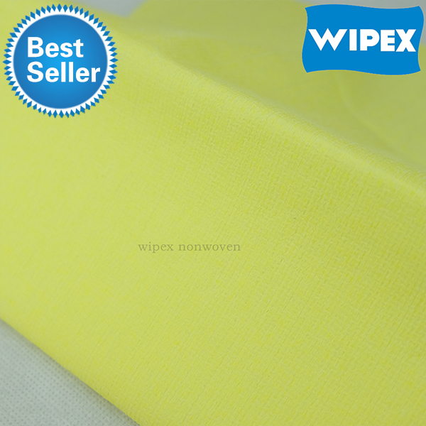 Needle punched nonwoven fabric yellow wiping cloth