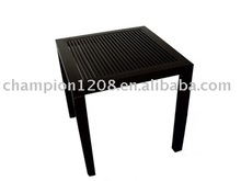 Ebony solid wood tea table, black paint tea table, simple tea table