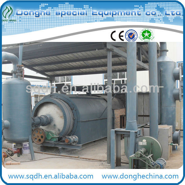 HOT SALE pyrolysis waste tire to oil machine with 6T/D capacity waste tyre pyrolysis machine tires processing machine