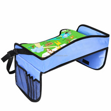 Kids Folding Travel Tray Snack Lap Tray Table Car Seat Tray Table for Children Dining Painting Reading