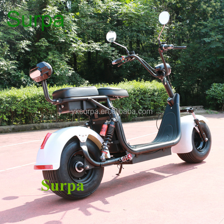 electric automobile car/1500w 2000w two battery 60v12ah 20ah fat tire citycoco electric scooter body parts