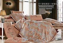 silk cotton satin jacquard bed in a bag sets