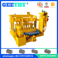 investment projects QMY4-30A mobile block making machine,low cost fly ash brick machine,concrete block machine price