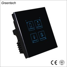 Luxury Wall Switch 1 Gang 1 Way Push Button light LED Indicator Remote Control touch Switch for wall