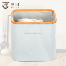 Eco-friendly Hottest Sell Square Foldable Disassembly Wooden Laundry Basket Bags