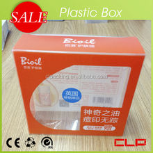 Plastic Folding PET PP PVC package box / customized package box