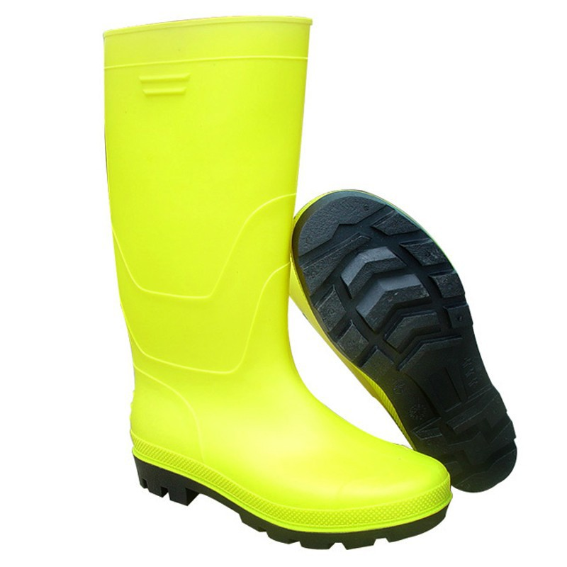yellow pvc working boots safety boots from factory