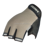 NEWSAIL Fingerless design frees mechanical gloves/3D Mesh fabric safety gloves/Synthetic leather working gloves