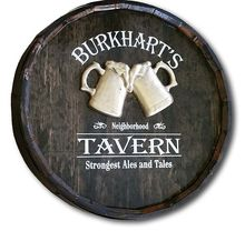 Beer vodka whiskey rum tequila wood oak Barrel Sign for pub, club, bar